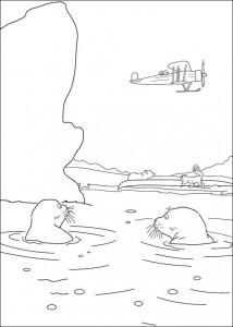 målarbok Sjölejon