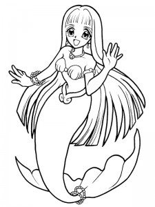 coloring page Mermaid (12)