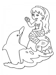 coloring page Mermaid (18)