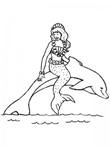 coloring page Mermaid (2)