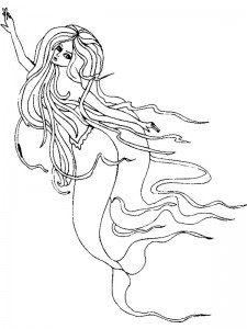 coloring page Mermaid (21)