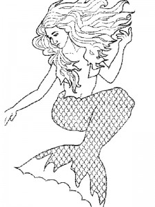 coloring page Mermaid (22)