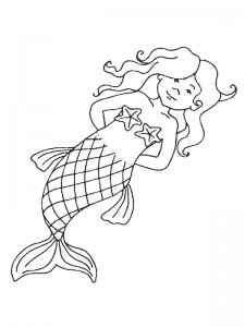 coloring page Mermaid (23)