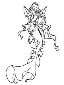 coloring page Mermaid (28)