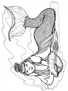 coloring page Mermaid (4)