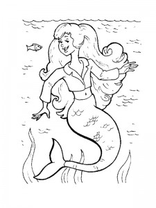 coloring page Mermaid (8)