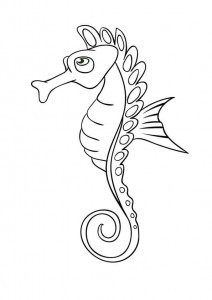 coloring page Seahorses (10)