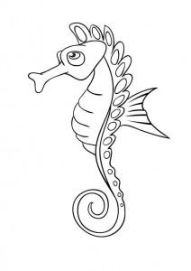 pagina da colorare Cavallucci marini (10)