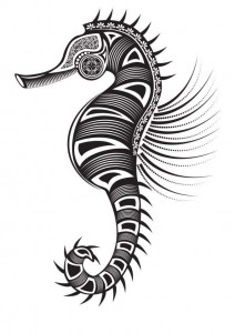 coloring page Seahorses (11)