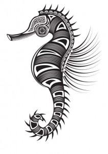 kleurplaat Zeepaardjes (11)