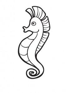 pagina da colorare Cavallucci marini (4)