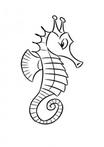 coloring page Seahorses (5)