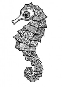 coloring page Seahorses (7)