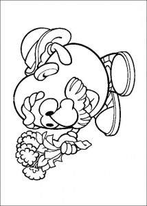coloring page Say it with flowers