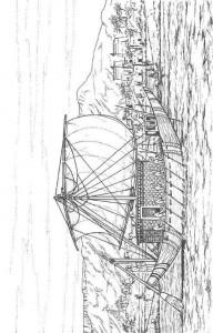 målarbok Segelbåt