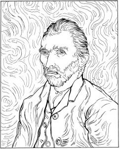 pagina da colorare Autoritratto 1889