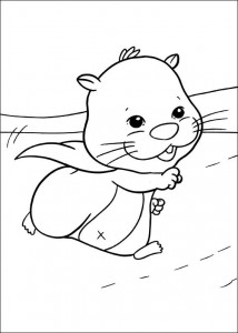 kleurplaat Zhu Zhu Pets (3)