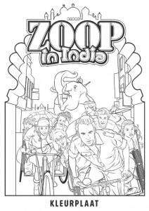 målarbok Zoop i Indien