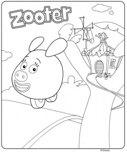 coloring page zooter