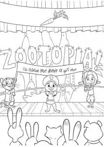 kleurplaat Zootropolis