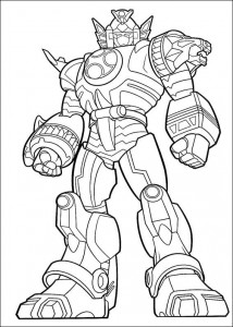 Zord coloring page