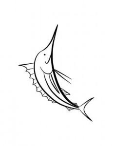 kleurplaat Zwaardvis (2)