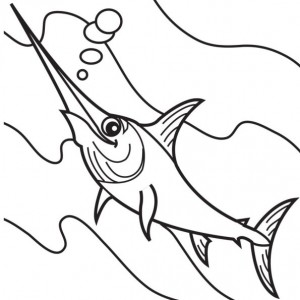 coloring page Swordfish (8)