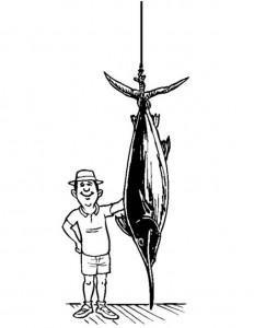 kleurplaat Zwaardvis